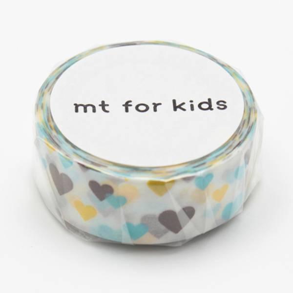 MT masking kids motif hearts
