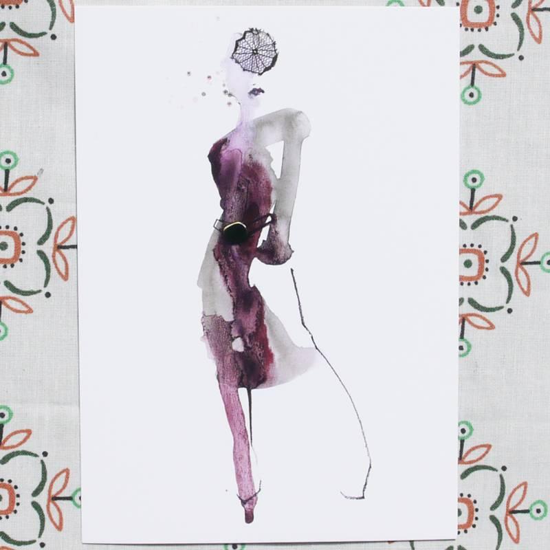 Kaart Purple Dress
