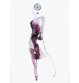 Tessa M. de Graaf Kaart Purple Dress