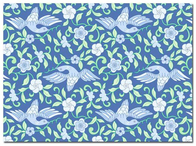 Kaart Blue birds