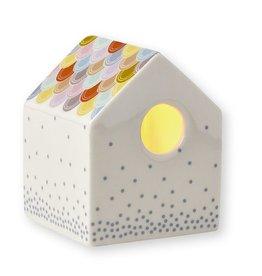 Mini Labo Porseleinen kaars-huisje klein