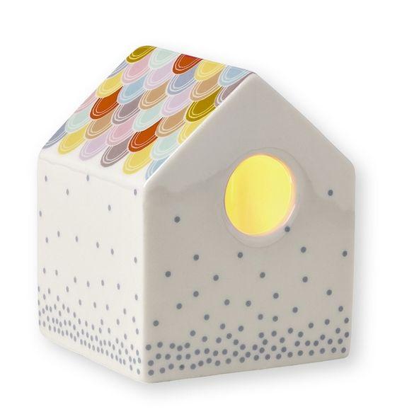 Porseleinen kaars-huisje klein