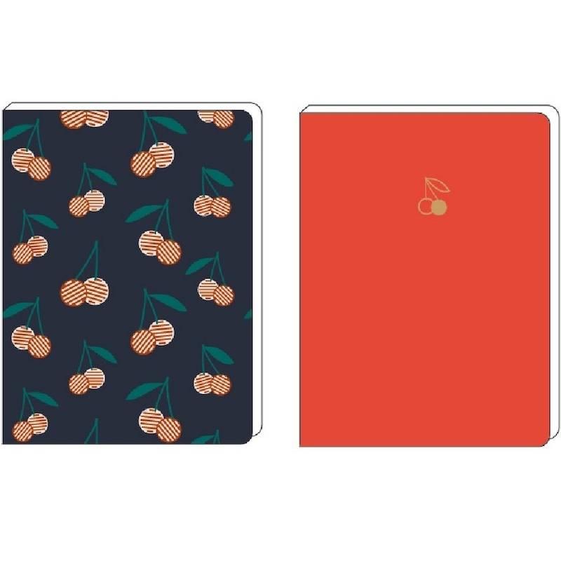 Set notebooks cerises