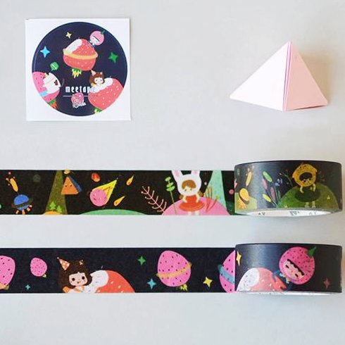 Washi tape set cartoon strawberry