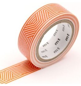 MT  MT masking tape border & circle orange