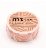 MT masking tape border & circle orange