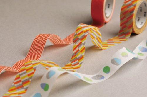 MT washi tape border & circle orange