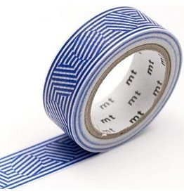 MT  MT masking tape border & circle blue