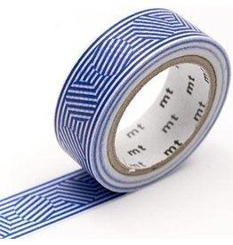 MT  MT washi tape border & circle blue