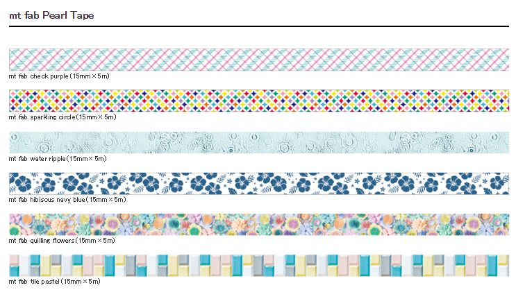 MT washi tape fab pearl Water ripple