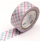 MT washi tape fab pearl Check purple