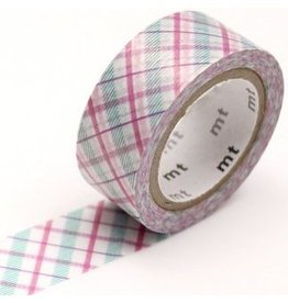 MT  MT washi tape fab pearl Check purple