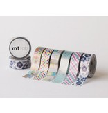 MT masking tape fab pearl Hibiscus navy blue