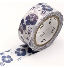 MT  MT masking tape fab pearl Hibiscus navy blue