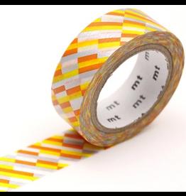MT  MT washi tape block stripe orange
