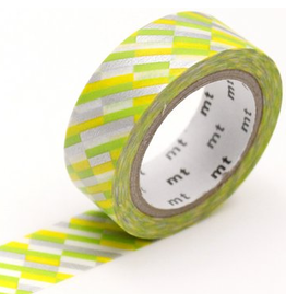 MT  MT washi tape block stripe green