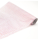 MT wrap Wrinkled grid red 230 mm