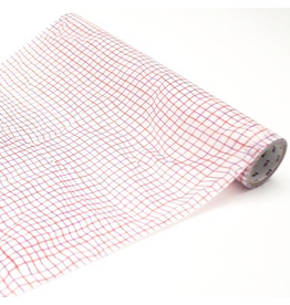 MT  MT washi wrap Wrinkled grid red 230 mm