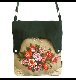 Huisteil creaties Happy tas XL Huisteil Bouquet de fleurs