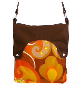 Huisteil creaties Happy tas XL Huisteil Orange seventies