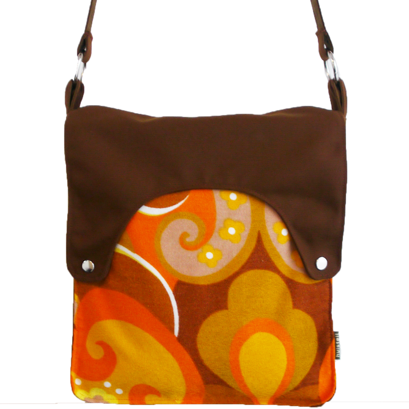 Happy tas XL Huisteil Orange seventies