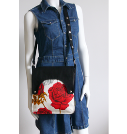 Huisteil creaties Happy tas XL Huisteil Red Rose