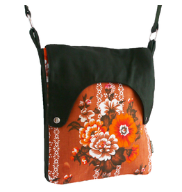 Huisteil creaties Happy tas XL Huisteil Orange bloom