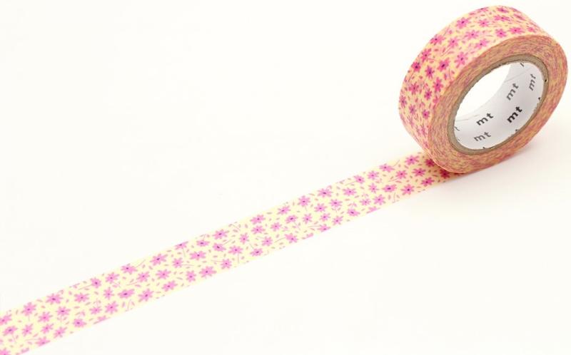 MT masking tape ex Pink flower