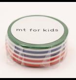 MT masking kids kleurige lijntjes