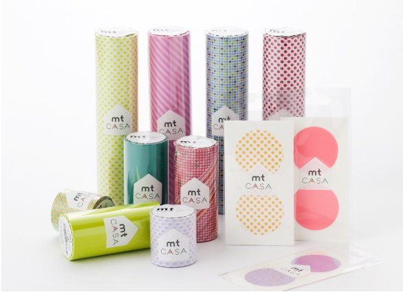 MT washi tape casa dot pink 100 mm