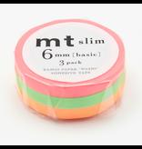 MT washi tape slim shocking