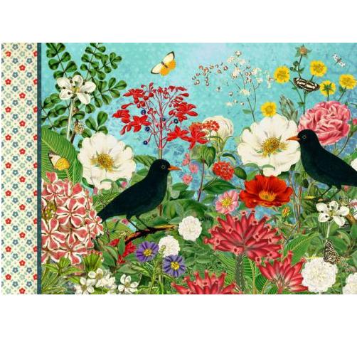 Geïllustreerd notebook Les fleurs