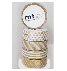 MT  MT masking tape set goud