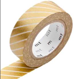 MT  MT washi tape stripe gold