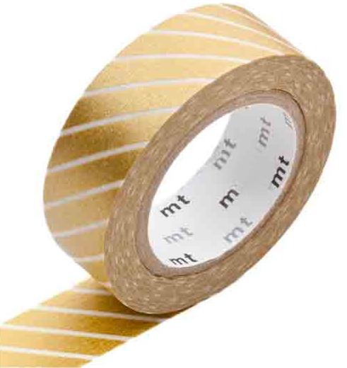 MT washi tape stripe gold