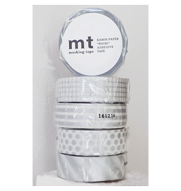 MT  MT masking tape set zilver