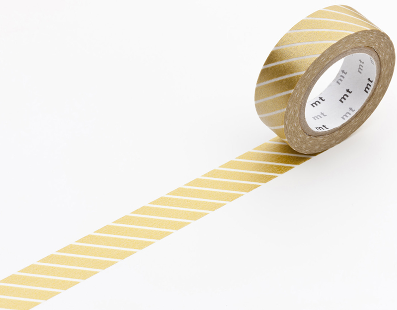 MT masking tape stripe gold