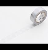 MT washi tape stripe silver