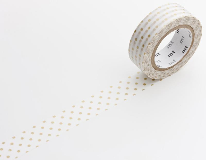 MT masking tape dot small gold