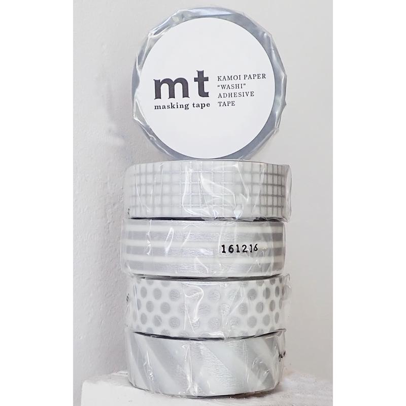 MT masking tape border silver 2