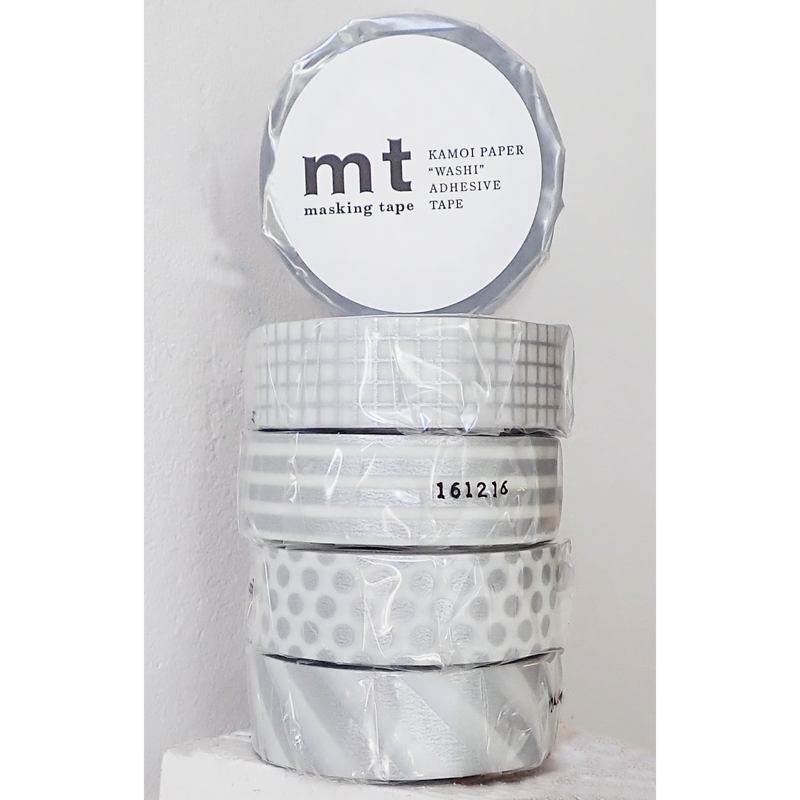 MT washi tape zilver