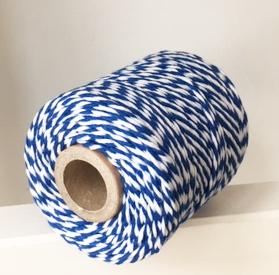 Twine blauw & wit