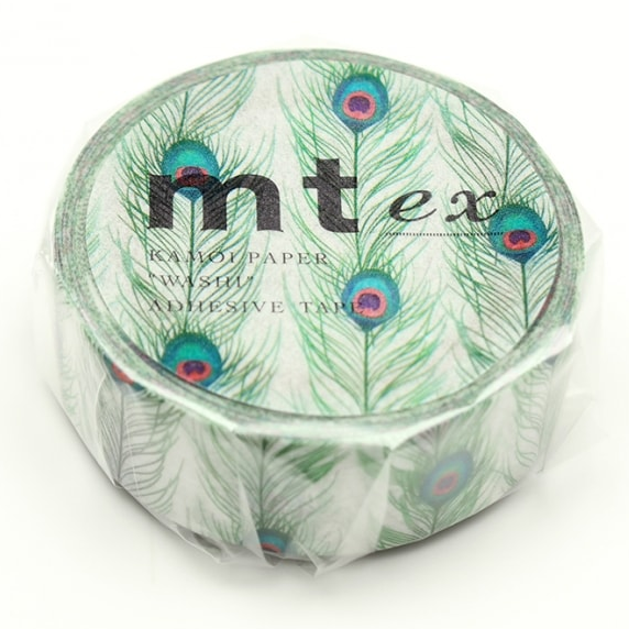 MT washi tape ex Peacock feathers