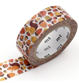 MT washi tape ex Squirrel and acorn