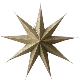 Kerstster Glitter Gold