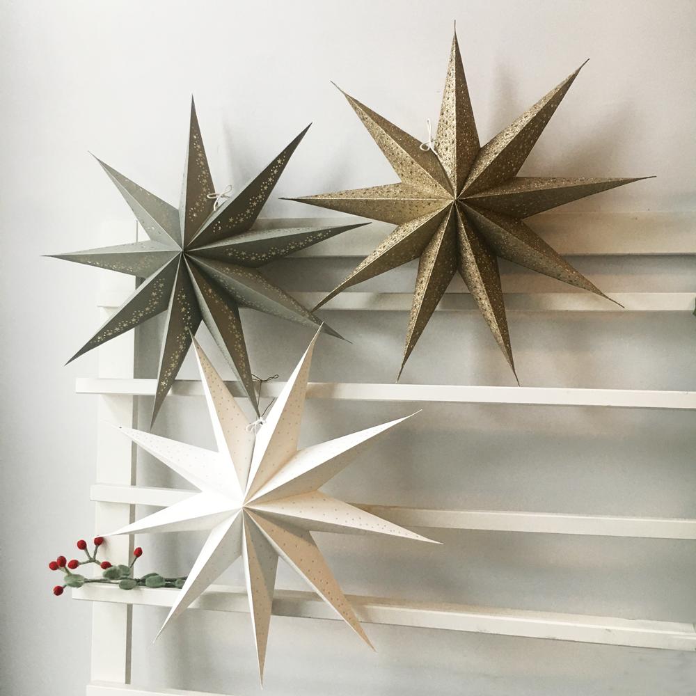 Kerstster Star Gray