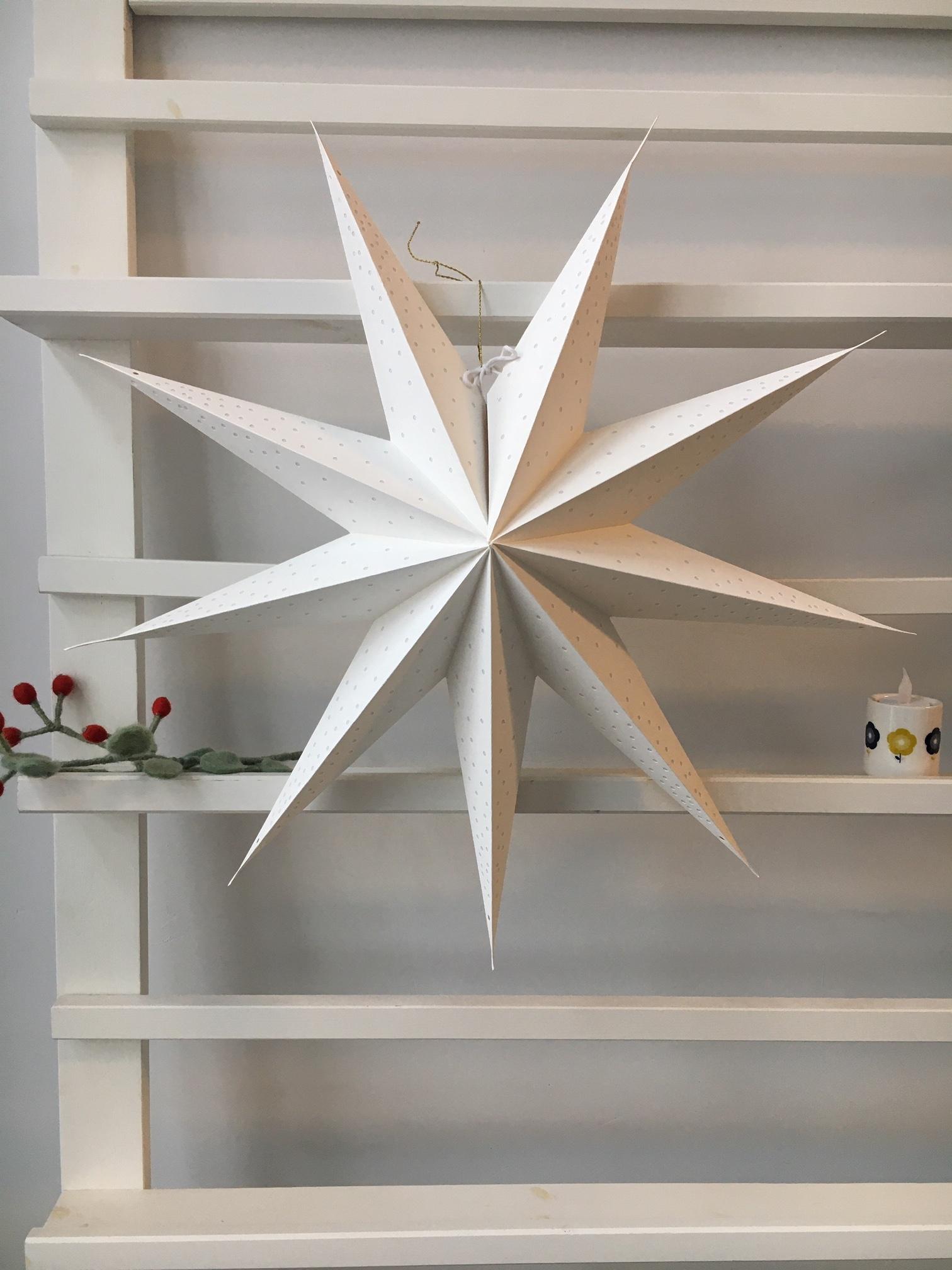 Kerstster Cristal White
