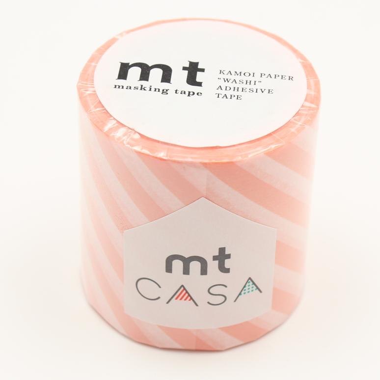 MT washi tape casa Stripe salmon pink 50 mm