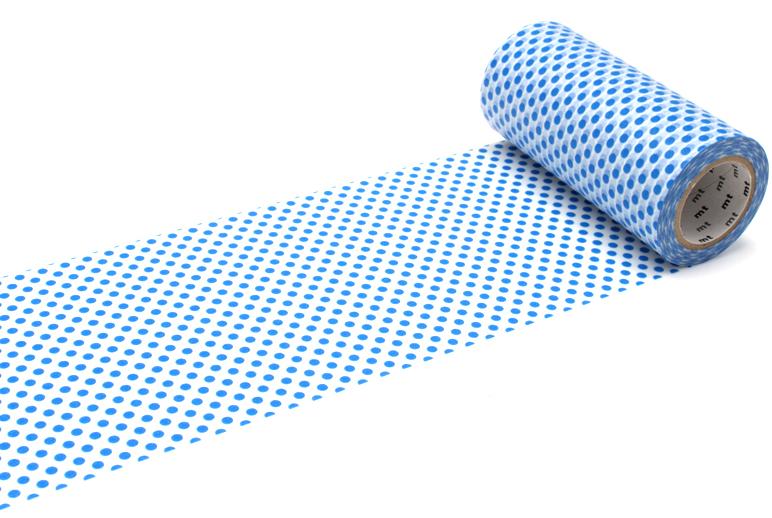 MT washi tape casa dot blue 100 mm