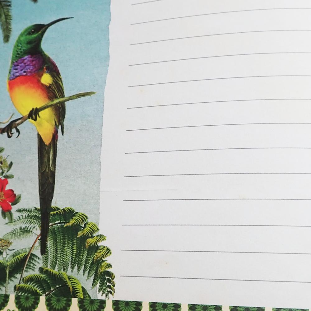 Geïllustreerd notebook les Fleurs pastel